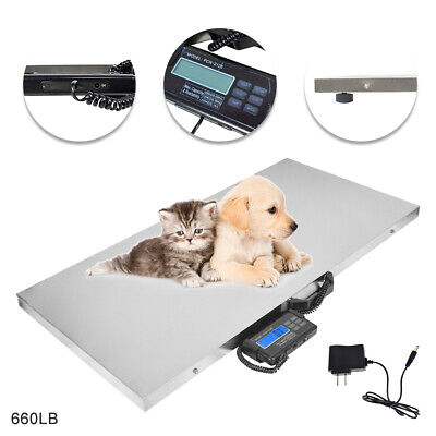 660lb Digital Pet Scale Platform Veterinary Weight Livestock Scale Floor Scale