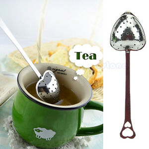 Heart-Shaped-Tea-Infuser-Spoon-Strainer-Stainless-Steel-Steeper-Handle-Shower