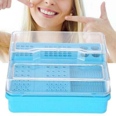 Oral Dental Disinfection Box Endodontic Drill Organizer Root Canal Files Holder