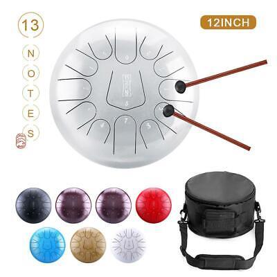 12 Inch Steel Tongue Drum Handpan Hand Drums 13 Notes Tankdrum W/Bag Xmas Gift