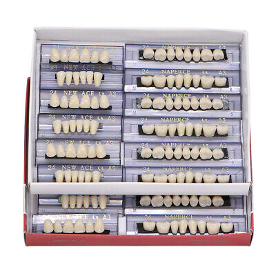 168pc Dental Acrylic Resin Denture 24 A3 Full Set Teeth Upper Lower Shade Tooth