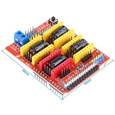 Cnc Expansion Board V3 4pcs A4988 Stepper Motor Driver 4 X Heat Sinks Bsu