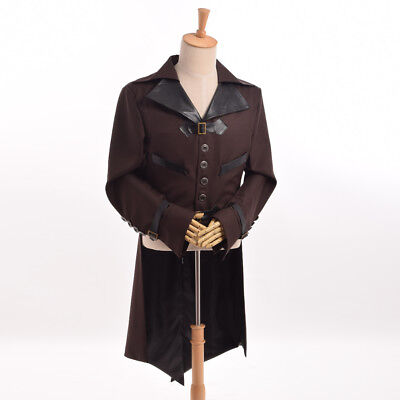 Mens Tailcoat (Mens Swallow-tailed Coat Tail Coat Jacket Tailcoat Victorian Steampunk)