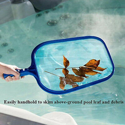Skimmer Rake (Pool Leaf Skimmer Rake Net Hot Tub Swimming Spa Cleaning Leaves Mesh New Utility)