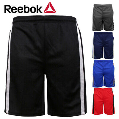 Reebok Men's Athletic Wear Striped Performance Running Workout Shorts Activewear