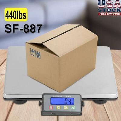 Digital Shipping Scale Postal Parcel Scale 440 Lbs Capacity W Ac Adapter