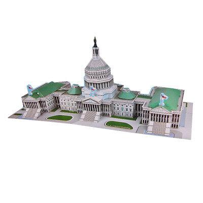 146PCS-8Panels US Capital Building 3D Puzzle Jigsaw Child Kid DIY Toy Brain Game