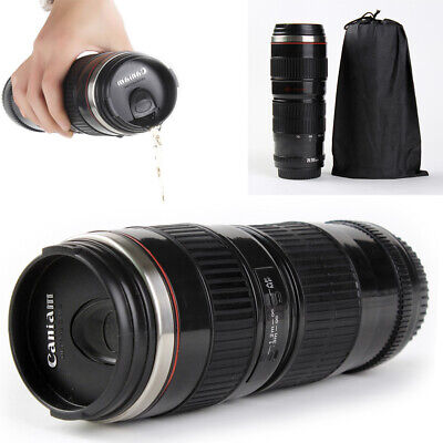 70-200mm Camera Lens Coffee Mug Photo Coffee Cup Stainless Steel Travel Thermos Coffee Cup Collectible