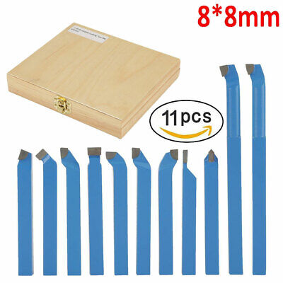 11pc 38inch Metal Lathe Tooling Carbide Tip Tipped Cutter Tool Bit Cutting Set