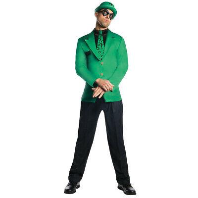 Die Riddler Erwachsene Kostüm Grün Anzug Krawatte Hut - Erwachsene Batman Anzug