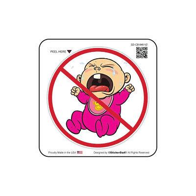 "CRY BABY 846 V2 (2"" color: FULL) Full Color Printed Vinyl Helmet Sticker"