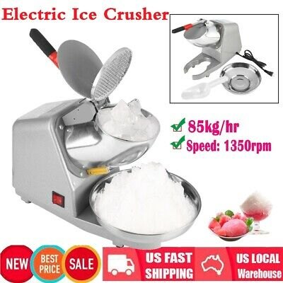 Commercial Household Manual Electric Ice Crusher Shaver Machine Snow Cone Maker