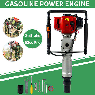 Pro Gas Powered Post Driver 2 Stroke Gasoline Engine T Post Push Pile Driver