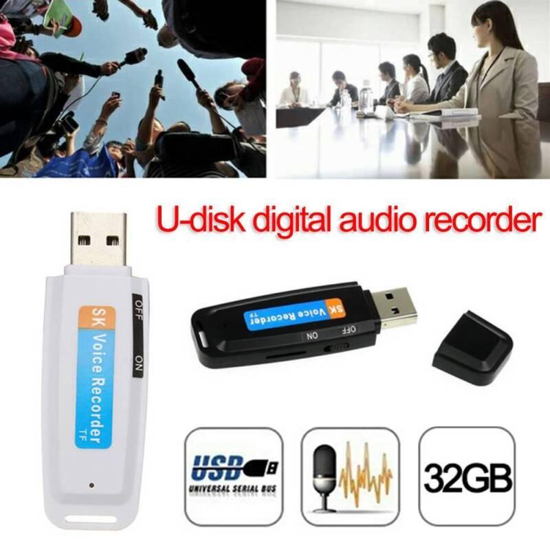 U-Disk Digital Audio Voice Recorder USB Recording Flash Drive Micro SD 32GB HQ