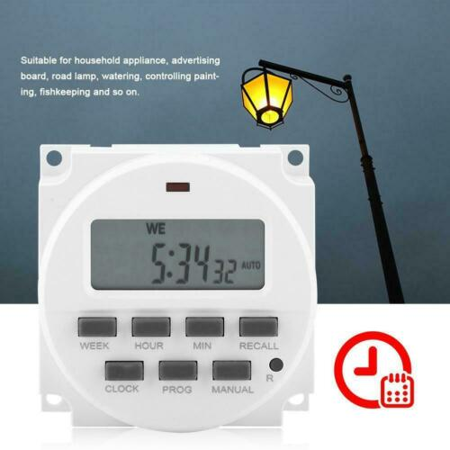12V110V220V Digital Electronic Time Timer Switch LCD Relay Weekly Programmable
