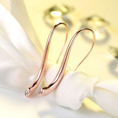 Classic Drop Earring Bezel Set Cubic Zirconia Rhinestone for Women Hook Earrings Cubic Zirconia Bezel Set Earrings