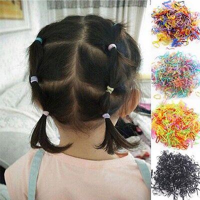 1000pcs Multi Color Mini Rubber Elastic Hairband Rope Ponytail Holder TPU Bands - Mini Rubber Bands