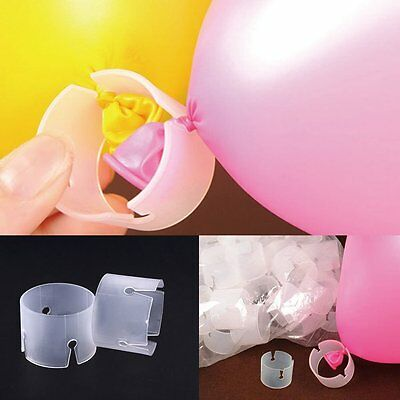 1 to 100x Balloon Arch Stand Connectors Clip Ring Buckle Wedding Birthday Decor - Decorative Arch