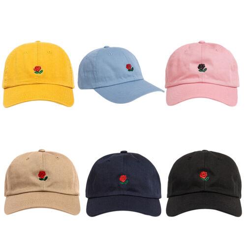 Unisex Beach Sun Cap Embroidered Rose Casquette Baseball Hats Sports Hat