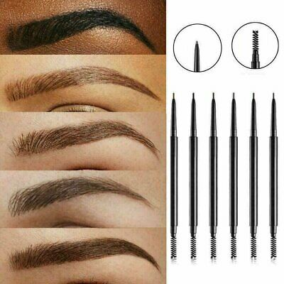 2in1 Waterproof Microblading Eye Brow Eyebrow Pen Pencil Slim Brush Makeup Tools Eyebrow Liner & Definition