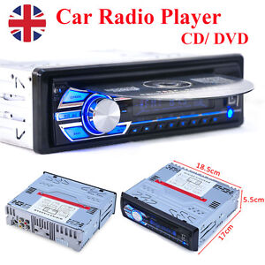 Car Radio Stereo DVD CD Player AUX-IN MP3 USB SD FM In-Dash LCD Display 1 Din UK
