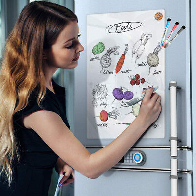 Magnetic Dry Erase Calendar Blank Board Refrigerator With 4 Markers And Eraser