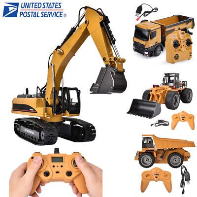 HUINA 1580 1:14 23CH Alloy Metal Excavator 3 in 1 Remote Control Engineering -