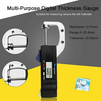 Digital Thickness Gauge Inchmetric Gage Wiremetal Sheetleather Measure Tool