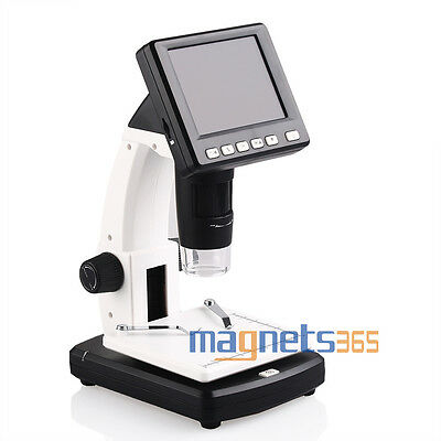 3.5 Lcd 500x Desktop Digital Microscope 5mp Hd Usb Tv Camera Video Recorder