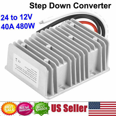 Dc24v To 12v Step Down Converter Reducer Regulator 40a 480w Power Supply Adapter