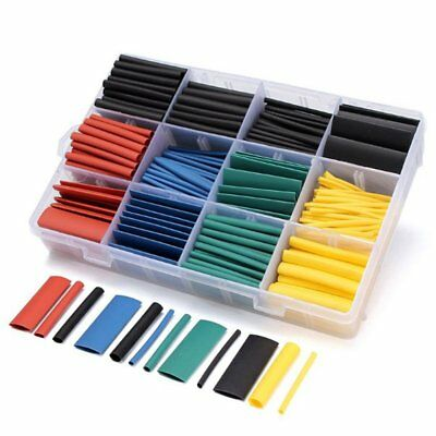 530pcs Heat Shrink Tubing Insulation Shrinkable Tube 21 Wire Cable Sleeve Kit