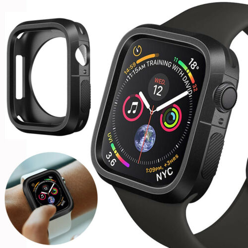 For Apple Watch Series 4 Silicone TPU Bumper Case Cover iWatch Protector 40/44mm Cases, Covers & Skins