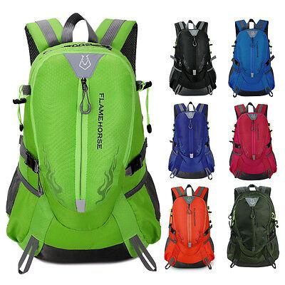 New men women Waterproof Sport travel Hiking Camping backpack Rucksack bag nylon