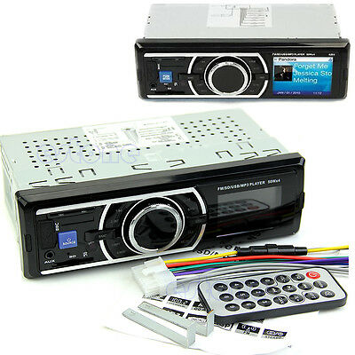Car Audio Stereo In-Dash FM Aux Input Receiver w/ SD USB MP3 Radio Player Remote on Rummage