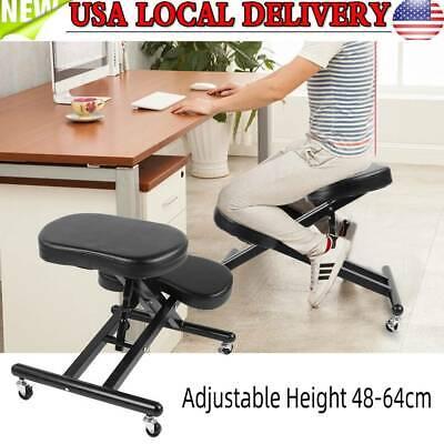 Ergonomic Rolling Kneeling Posture Chair Adjustable Height Home Office Seating