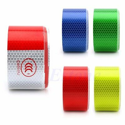 """5CM*3M 2"""" X 10' Reflective Safety Warning Conspicuity Tape Film Sticker 5 Color"""