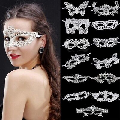 Women Lace Eye Face Mask Masquerade Party Ball Prom Accessories Decor 22 Styles - Masquerade Ball Accessories