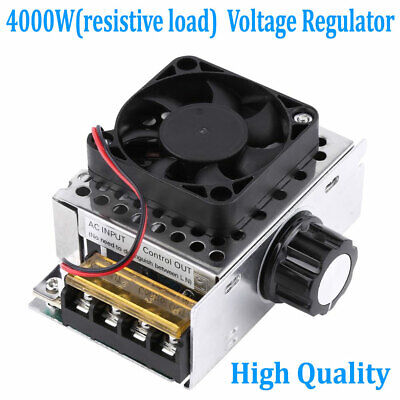 4000w 110v Ac Scr Voltage Regulator Dimmer Electric Motor Speed Control Module