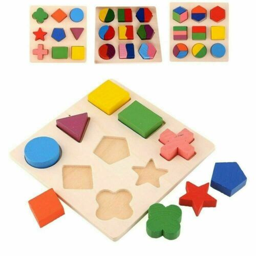 Kids Educational Sets Wooden Geometry Wood Toys Baby Kids Early Learning