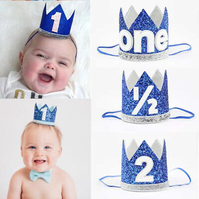 Baby Girl Boy Kids Half 1/2 First Second Birthday Crown Party Headband Props](Crown Prop)
