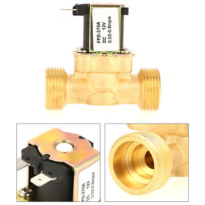 34 Dc 12v Electric Solenoid Valve Brass Nc Normal Closed Water Oil Diesel Usa