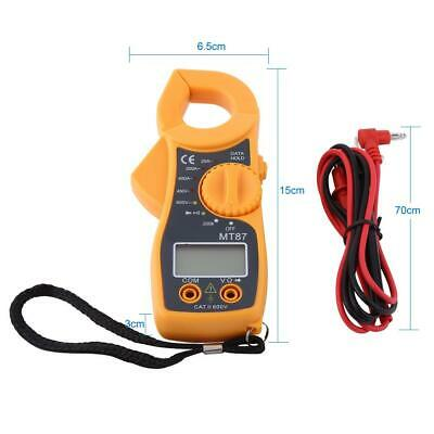 Digital Lcd Clamp Multimeter Ohm Amp Volt Meter Acdc Current Resistance Tester