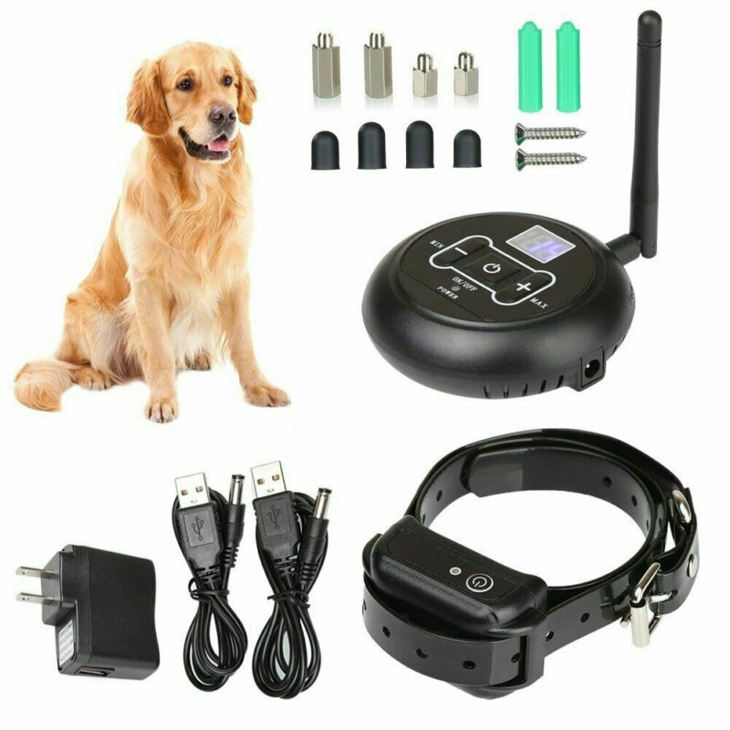 For 2 Dog Wireless Electric Dog Fence Containment System Sho
