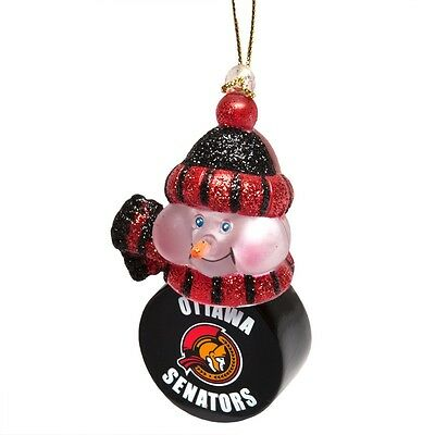Ottawa Senators - Snowman Puck Christmas Light-Up Christmas Xmas Ornament