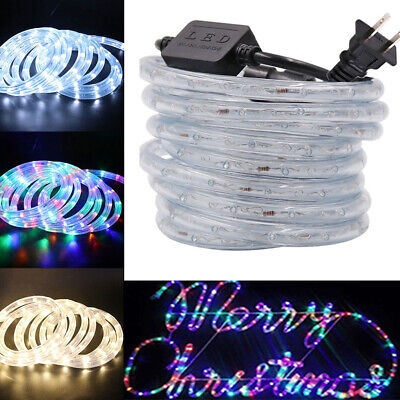 110V LED Rope Fairy Light Tube RGB Outdoor lighting Xmas Festival Party Decor - Festival Decorations
