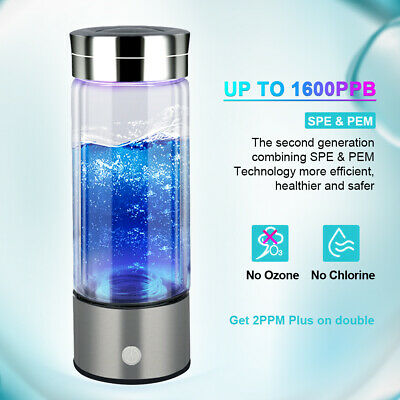 New 1600PPB Hydrogen Water Bottle Generator Water Bottle Cup Filter with PEM SPE