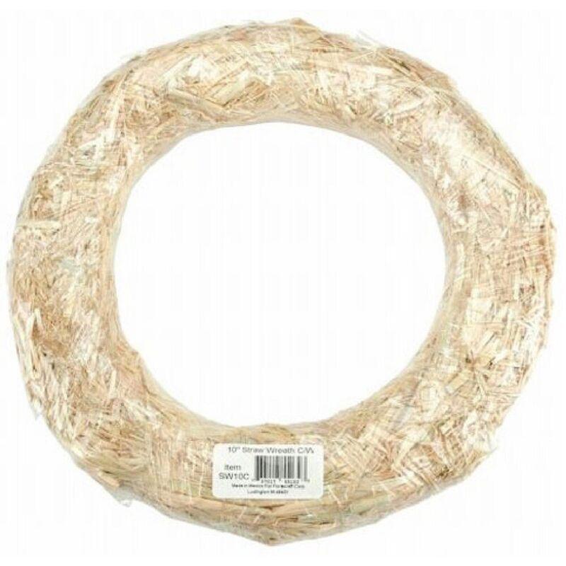 FloraCraft Straw Wreath Round Natural 10 inches
