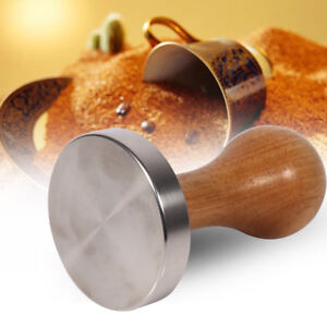 Wooden Handle Stainless Steel Espresso Coffee Tamper Press Tool 58mm base Hot