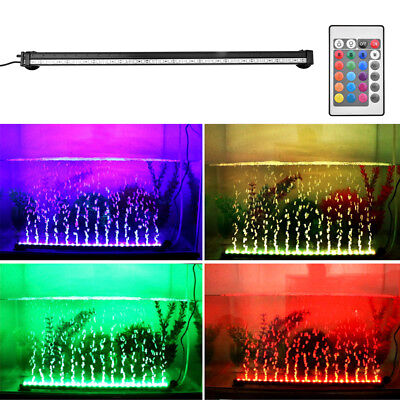 Aquarium Lighted Fish Tank - Aquarium Fish Tank Underwater Submersible Color Changing LED Air Bubble Light US