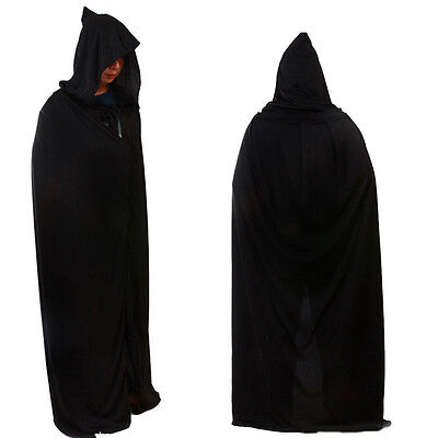 God Of Halloween (Death Cloak With Hood God of Death Cape Witch Robe Halloween Cosplay Costume)
